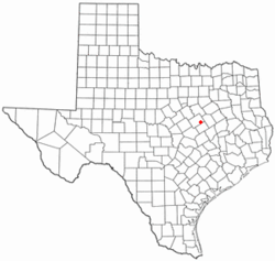 Location of Riesel, Texas