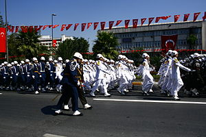 Military parade - Parade at the Victory Day (Zafer Bayramı) in Istanbul