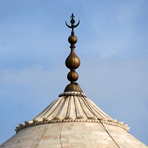 Finial - Finial of the dome of the Taj Mahal