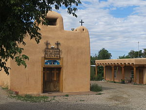 Talpa, New Mexico - San Juan De Los Logos church, Talpa, New Mexico