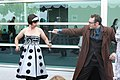 Tenth Doctor and Dalek cosplay battle stances.jpg