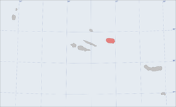 Location of the island of Terceira in the archipelago of the Azores