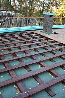 Terrasse en bois wikimonde for Construction toit terrasse