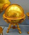 Terrestial globe, Johannes Praetorius, Nuremberg, 1566, gilt brass - Germanisches Nationalmuseum - Nuremberg, Germany - DSC03776.jpg