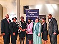 Terri Sewell with panelists after financial literacy forum in Birmingham in 2014.jpg