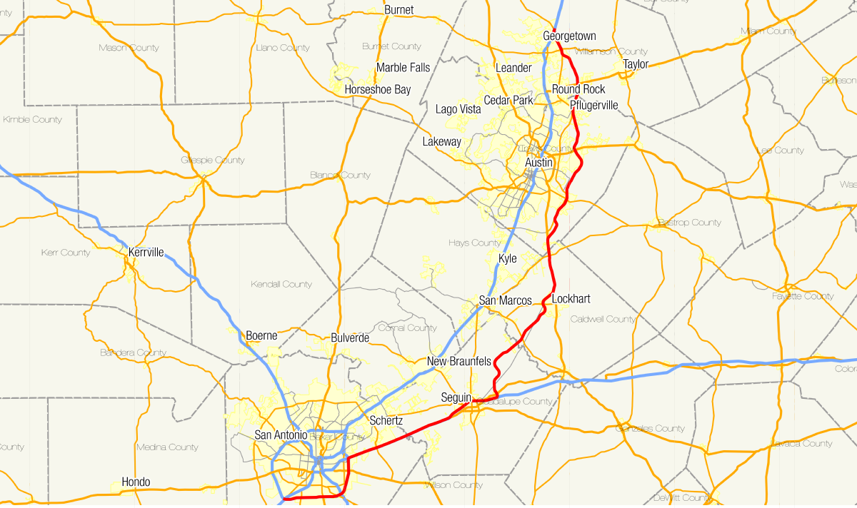 Map Of Texas San Antonio.Texas State Highway 130 Wikipedia