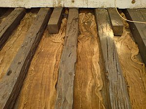 Thalatta (Thames barge) - Image: Thalatta original floors
