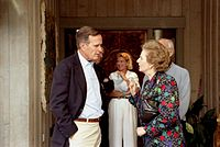 photograph of Thatcher and Bush