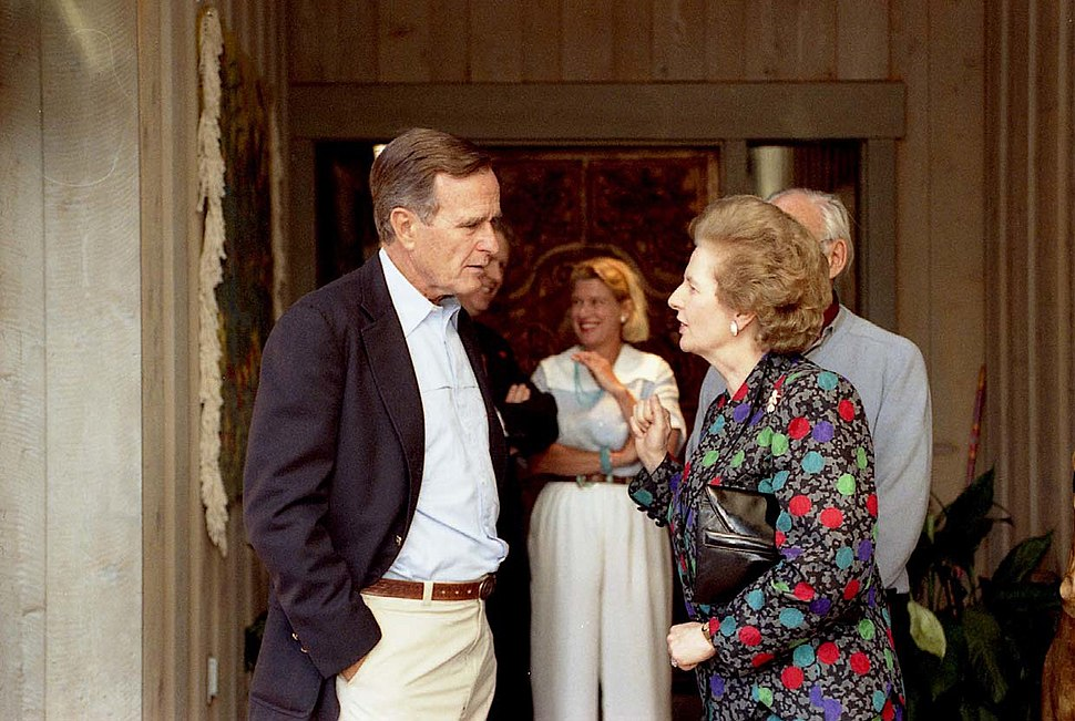 Thatcher and Bush - 1990 - P14935-18A