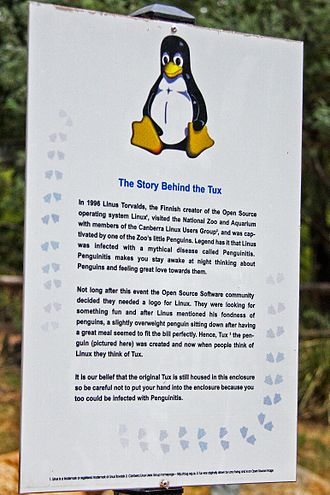 Tux (mascot) - The story behind Tux, Canberra Zoo