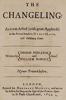 The Changeling (play) title page (1653).jpg