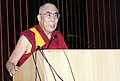The Dalai Lama delivering the 4th Annual Lecture, organized by the National Commission for Minorities, in New Delhi on August 10, 2011.jpg