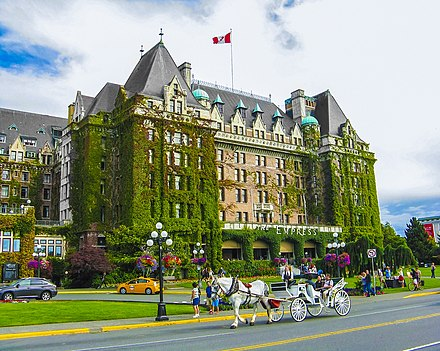 The Empress is a hotel on Government Street, facing Victoria Harbour. The Empress, Victoria, BC.jpg