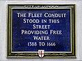 The Fleet Conduit plaque - 81 Fleet Street London EC4Y 1EL.jpg