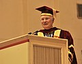 The Governor General of Canada, Mr. David Johnston addressing after receiving the LL.D (Honoris Causa), at the Special Convocation of the National Law University (Delhi), in New Delhi on February 24, 2014.jpg