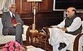 The Governor of Jammu and Kashmir, Shri N.N. Vohra calling on the Union Home Minister, Shri Rajnath Singh, in New Delhi on January 30, 2015.jpg