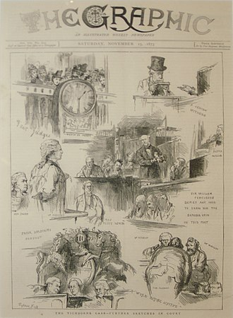The Graphic - Front page of The Graphic during the Tichborne case in 1873