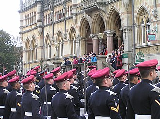 King's Royal Hussars - The King's Royal Hussars receiving the Freedom of Winchester from the Princess Royal