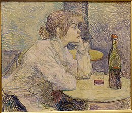The Hangover (Suzanne Valadon), by Henri de Toulouse-Lautrec, 1887-1889, oil on canvas - Fogg Art Museum, Harvard University - DSC00697.jpg