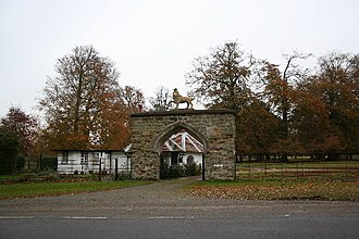 Manor of Scrivelsby - The Lion Gateway