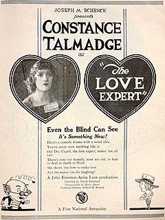 <i>The Love Expert</i> 1920 film directed by David Kirkland