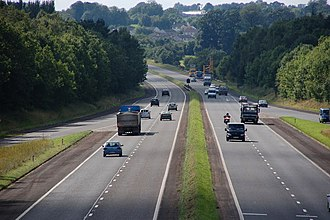 M22 motorway (Northern Ireland) - View west towards Castledawson at Ballygrooby near Randalstown