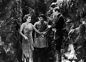 The Most Dangerous Game (film) - (L-R) Fay Wray, Steve Clemente, and Leslie Banks