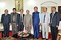 The President, Shri Pranab Mukherjee with the Chief Minister of Mizoram, Shri Lal Thanhawla and other dignitaries, at Raj Bhavan, in Aizawl, Mizoram on April 09, 2015.jpg
