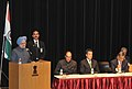 The Prime Minister, Dr. Manmohan Singh addressing the meeting of Japan-India parliamentary Friendship League and Japan-India Association, at the Indian Embassy Building, in Tokyo, Japan on October 25, 2010.jpg