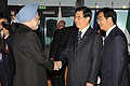 The Prime Minister, Dr. Manmohan Singh meeting the President of the People's Republic of China, Mr. Hu Jintao, on the sidelines of G-20 Summit, in Cannes, France on November 03, 2011.jpg