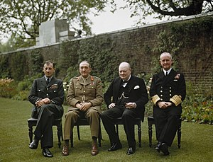 Chiefs of Staff Committee - Winston Churchill with his Chiefs of Staff.