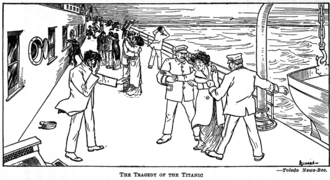 Walter R. Allman - An Allman cartoon about the Titanic disaster from the Toledo Bee.