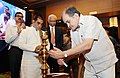 The Union Minister for Rural Development, Panchayati Raj, Drinking Water and Sanitation, Shri Chaudhary Birender Singh lighting the lamp to inaugurate the Indovation-III for Drinking Water and Sanitation technologies.jpg