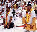 The Union Minister for Tribal Affairs, Shri Jual Oram participates in the Mass Yoga demonstration, on the 4th International Day of Yoga 2018, in Rourkela, Odisha on June 21, 2018.JPG