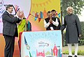 The Vice President, Shri Mohd. Hamid Ansari releasing the festival brochure of the Times Literature Festival, organised by the Times of India, in New Delhi on November 28, 2015.jpg