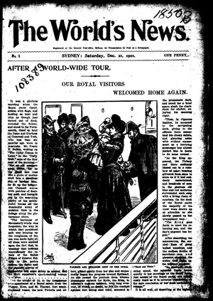 The World's News - Front cover of The World's News on 21 December 1901