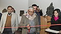 The former Director, Archaeological Survey of India, Shri B.M. Pande inaugurating an exhibition Human The Creator, in the series of the exhibitions from the reserve collections of National Museum, in New Delhi.jpg