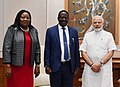 The former Prime Minister of Kenya, Mr. Raila Amolo Odinga calling on the Prime Minister, Shri Narendra Modi, in New Delhi on July 03, 2018.JPG