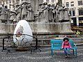 The little girl and the giant easter egg in Budapest.jpg