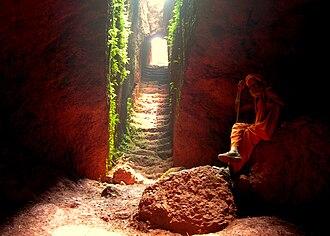 Kamalgad - Red ocher in Kamalgad fort