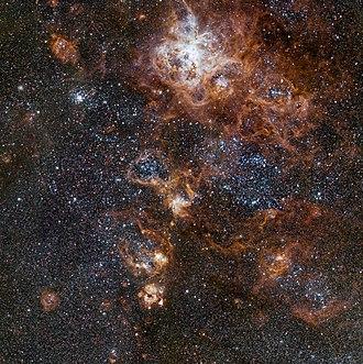 Tarantula Nebula - Image: The rich region around the Tarantula Nebula in the Large Magellanic Cloud