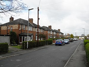 Noel Gallagher - Cranwell Drive, Burnage, Manchester, where the Gallagher brothers used to live (pictured 2011).