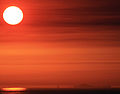 The sun and superior mirage of Farallon Islands.jpg