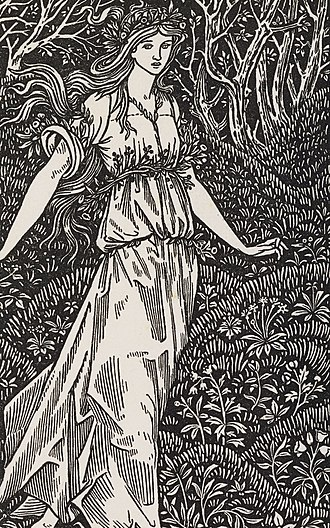 The Wood Beyond the World - frontispiece to the Kelmscott edition