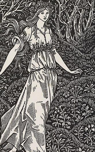 Millefleur - Sir Edward Burne-Jones' frontispiece to The Wood Beyond the Worlds (Kelmscott Press, 1894)