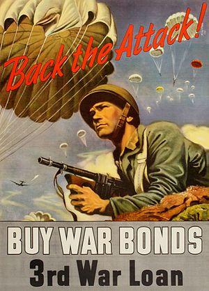 Series E bond - George Schreiber poster for the Third War Loan Drive (September 9–October 1, 1943)