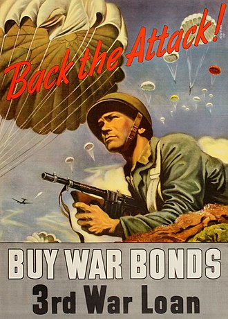 Series E bond - George Schreiber poster for the Third War Loan Drive (September 9–October 1, 1943)