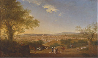 Thomas Patch - A Panoramic View of Florence from Bellosguardo, 1775.