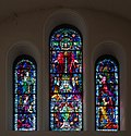 Thurles Cathedral West Transept Triple Upper Window Our Lord's Ascension 2012 09 06.jpg