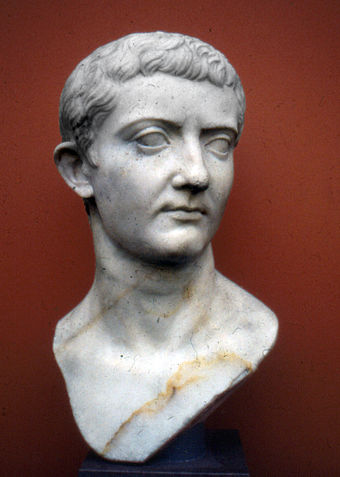 Bust of Tiberius, a successful military commander under Augustus before he was designated as his heir and successor Tiberius NyCarlsberg01.jpg